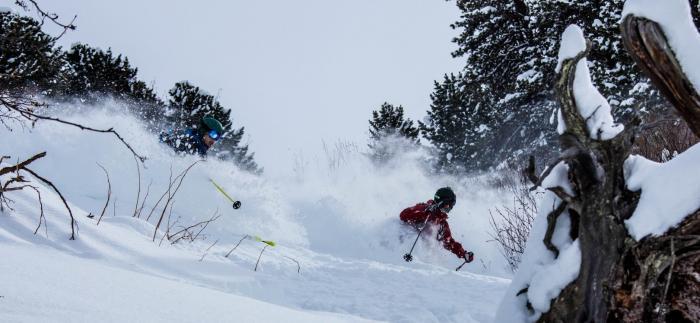 Die Belohnung für den Aufstieg ist bestenfalls hüfttiefer Powder | Foto: ROCK'nd SNOW Berg- und Skischule, Christopher Spiegel