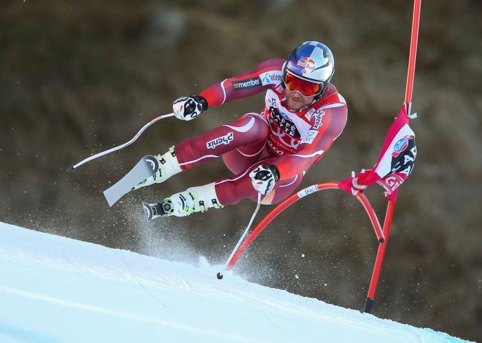 Die Alpinski von Rennläufer Aksel Lund Svindal brauchen auch gute Flugeigenschaften (Foto: Sweet Protection)