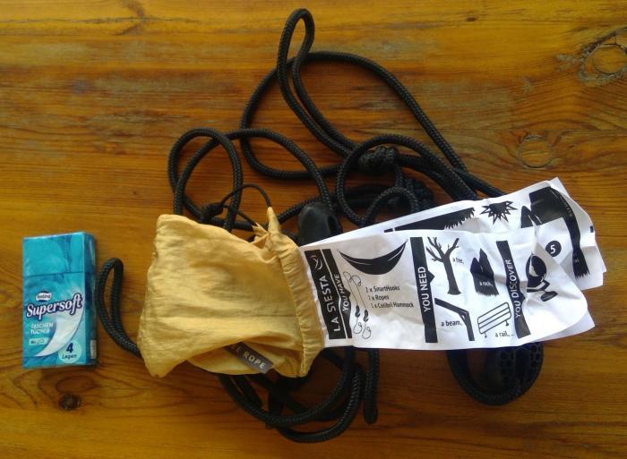 Seile für die Aufhängung inkl. Anleitung im separaten Säckchen