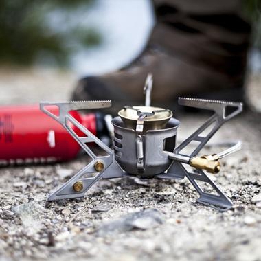 Unschlagbar auf Expeditionen ans Ende der Welt: Flüssigbrennstoffkocher.