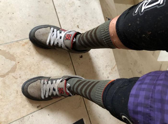 nasse Schuhe nach der Tour