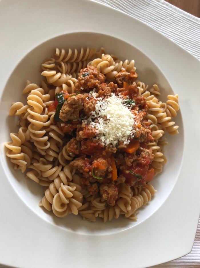 Trivelline mit Bolognese