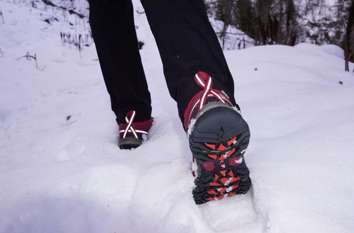 Profil im Schnee