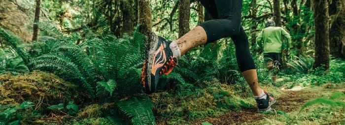 """Die """"Leichten Trailrunningsocken"""" von Columbia sind zusätzlich verstärkt und unterstützen den Fuß beim Laufen."""