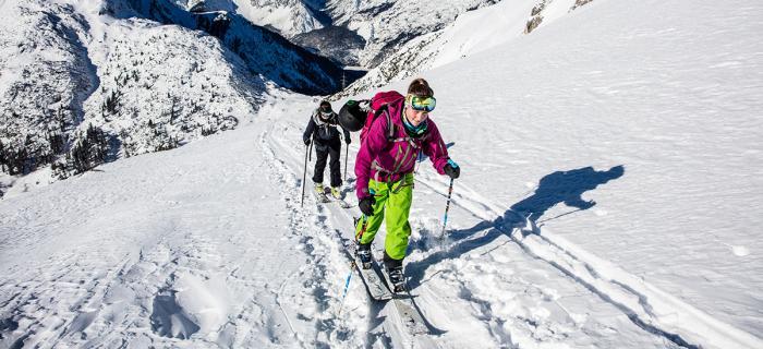 Ohne geht´s nicht: Skitourenstöcke sind entscheidend auf jeder Tour. Foto: ROCK'nd SNOW Berg- und Skischule