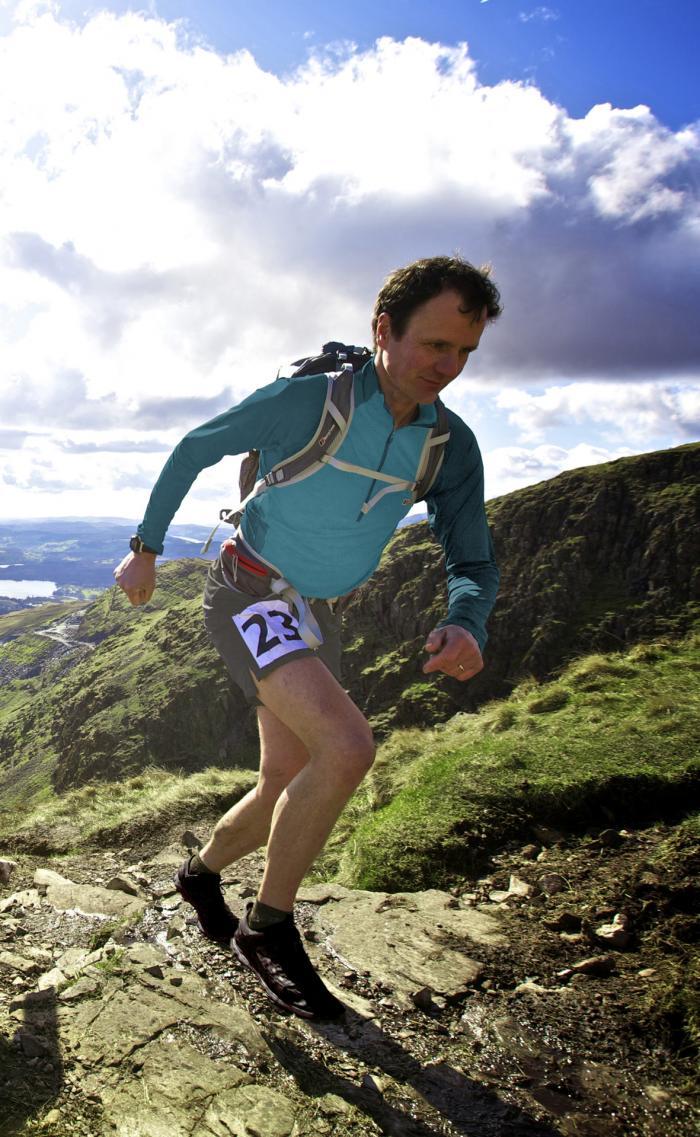 Steve Birkinshaw in Aktion - gute Vorbereitung ist für ein Bergrennen oberste Priorität.