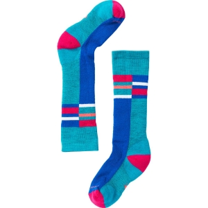 Smartwool Kinder Wintersport Stripe Socken Türkis 29, 30, 31, 32