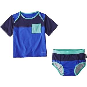 Patagonia Kinder Infant Little Sol Swim Set Blau 92