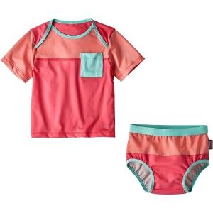 Patagonia Kinder Infant Little Sol Swim Set Pink 68