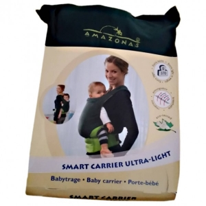 Amazonas - Babytrage Smart Carrier Ultra Light - Kinderkraxe grau/schwarz/beige