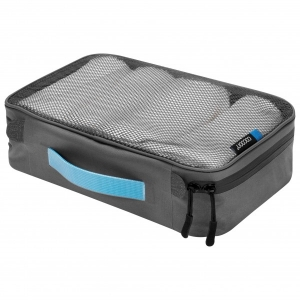 Cocoon - Packing Cube With Open Net Top - Packsack Gr L - 35 x 26 x 8 cm;M - 28 x 18 x 8 cm;S - S;XL - XL grau/schwarz