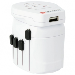 Skross - World Pro + USB Schuko - Steckdosenadapter Gr One Size