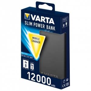 Varta - Portable Slim Power Bank + Micro USB Kabel - Akku Gr 12.000 mAh;18.000 mAh;6.000 mAh grau
