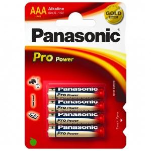 Panasonic - Alkaline Batterien 'Pro Power' Microzelle Gr 4 Stück