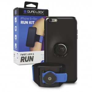 Quad Lock - Run Kit - iPhone 6 Plus schwarz/blau