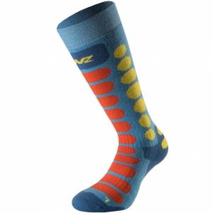 Lenz Socks Skiing Kids 1.0 azur/orange - 35-37