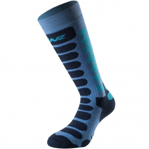 Lenz Socks Skiing Kids 1.0 blue/navy - 35-37