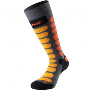 Lenz Socks Skiing Kids 1.0 grey/orange - 35-37