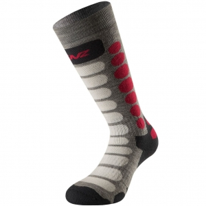 Lenz Socks Skiing Kids 1.0 grey/pink - 35-37