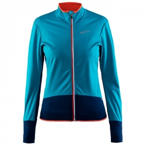 CRAFT Damen Belle Wind petrol Light Jacket, Größe S, Radjacke,