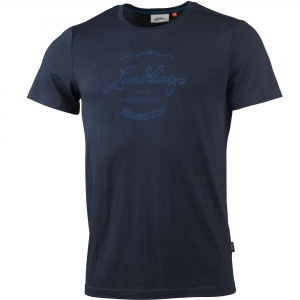 Lundhags Merino Light Established Tee T-Shirt dunkelblau Herren