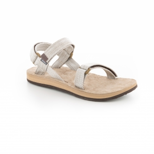 Source Leather Urban Damen Sandalen canvas,beige Gr. 41,0 EU