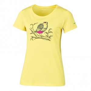 Columbia Birdy Buddy Short Sleeve Tee Women T-Shirt gelb Damen Gr. S