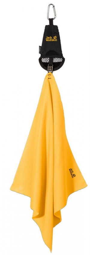 Jack Wolfskin Mikrofaser-Handtuch WOLFTOWEL ULTRA S (Farbe: 380 burly yellow)