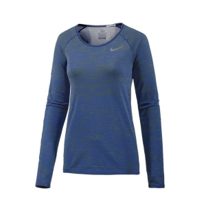 Nike Dri-Fit Knit Top Damen Laufshirt blue Gr. M