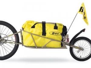 Croozer Lastenanhänger BOB Ibex für 26 MTB TR0512 inklusive SSP und BOB-Bag (Goldfarben)
