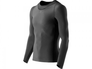 Skins: RY400 Mens Compression Long Sleeve Top for Recovery graphite