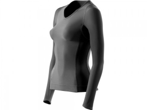 Skins: RY400 Womens Compression Long Sleeve Top for Recovery Graphite