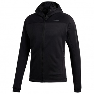 adidas - Stockhorn Hooded Fleece Jacket - Fleecejacke Gr 48;50;52;54 schwarz