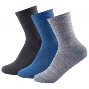 Devold - Daily Light Kid Sock 3-Pack - Multifunktionssocken Gr 25-27;28-30;31-34 grau/blau/schwarz;rosa/grau