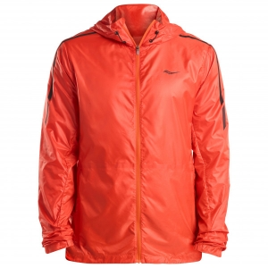 Saucony - Pack It Run Jacket - Laufjacke Gr L;M;S;XL blau;rot
