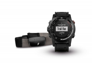 GARMIN Fenix 2 Performer Bundle GPS-Multisportuhr HRM-Run Premium Herzfrequenz-Brustgurt - Navigation