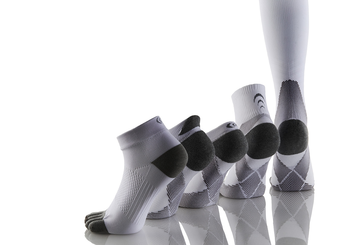 Wadenhohe Arch Support Kompressions-Laufsocken von C3fit.