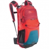 Stage 12l Rucksack petrol-red-ruby